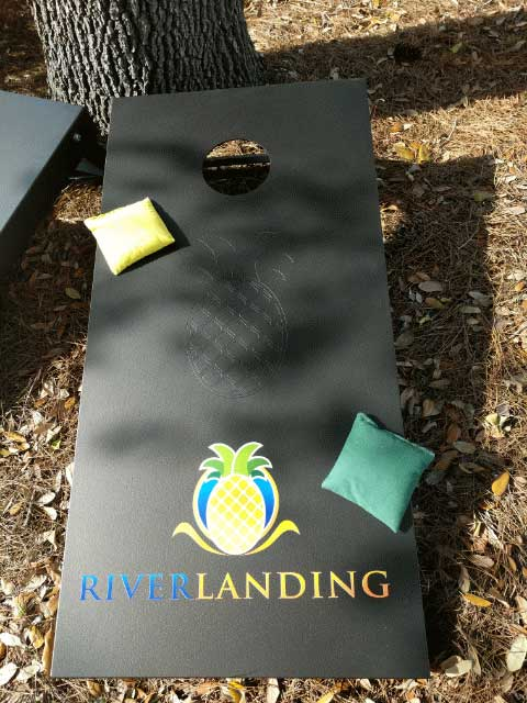 River Landing Custom Cornhole Game Table by R&R Outdoors