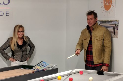 Robbie Selby & Ty Pennington Playing Bumper Pool | R & R Outdoors