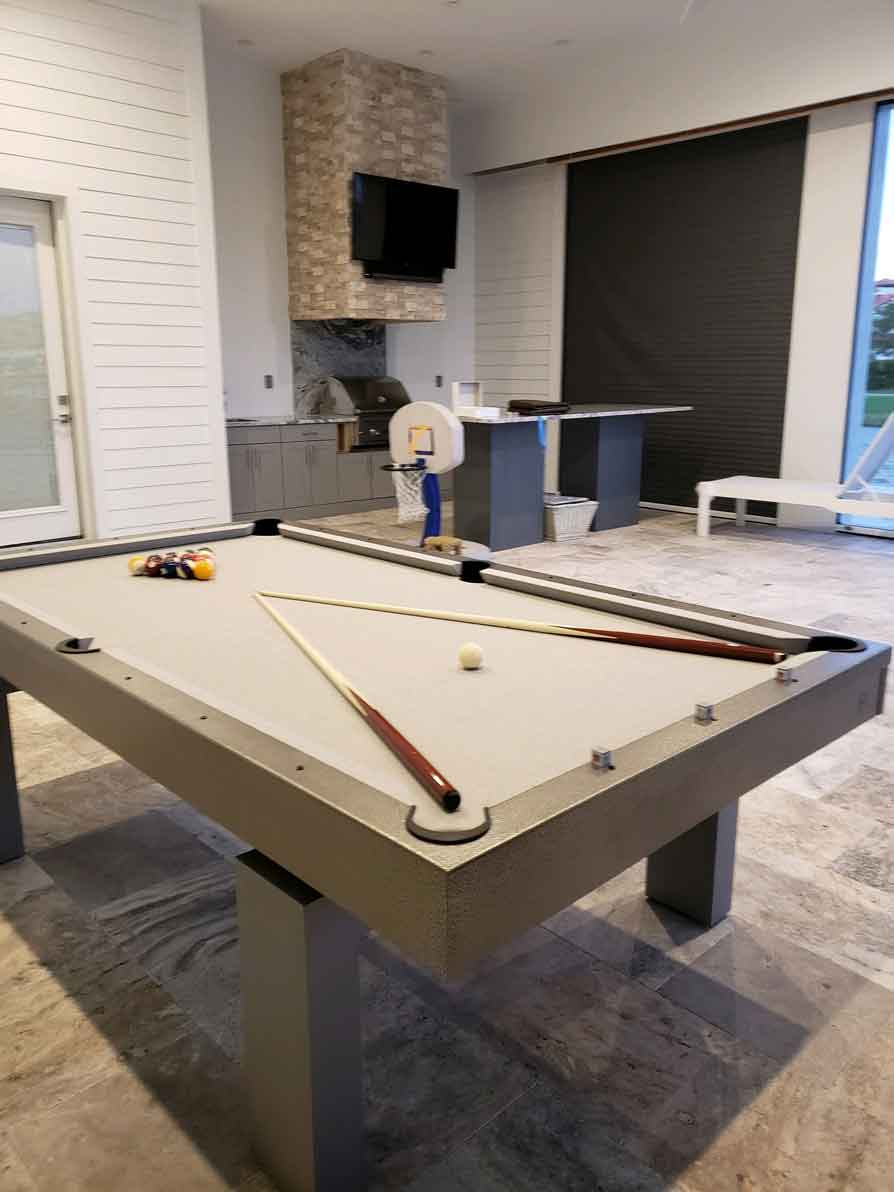 South Beach Custom Outdoor Pool Table by R&R Outdoors, Inc. All Weather Billiards