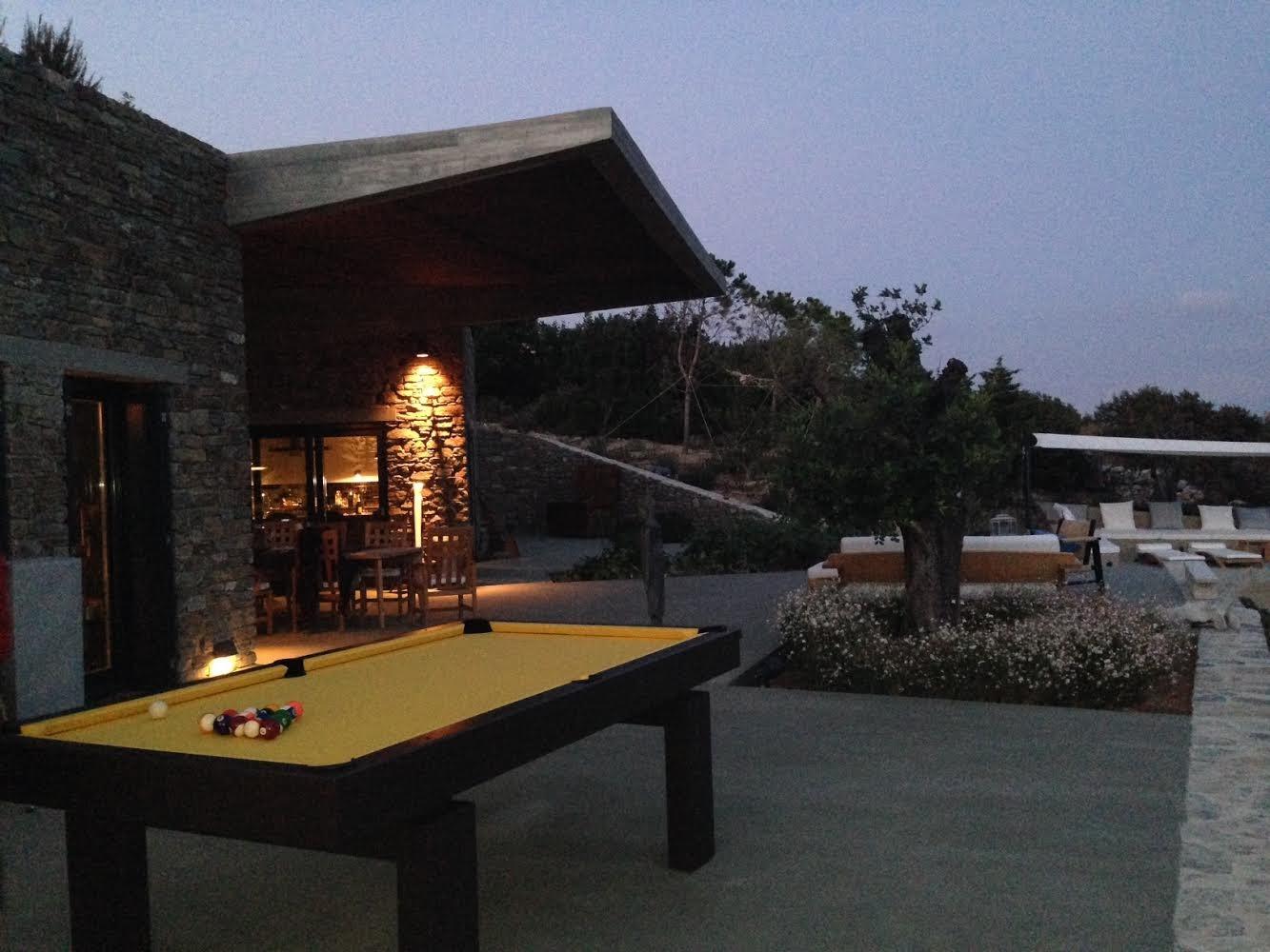 South Beach custom outdoor pool table in Greece