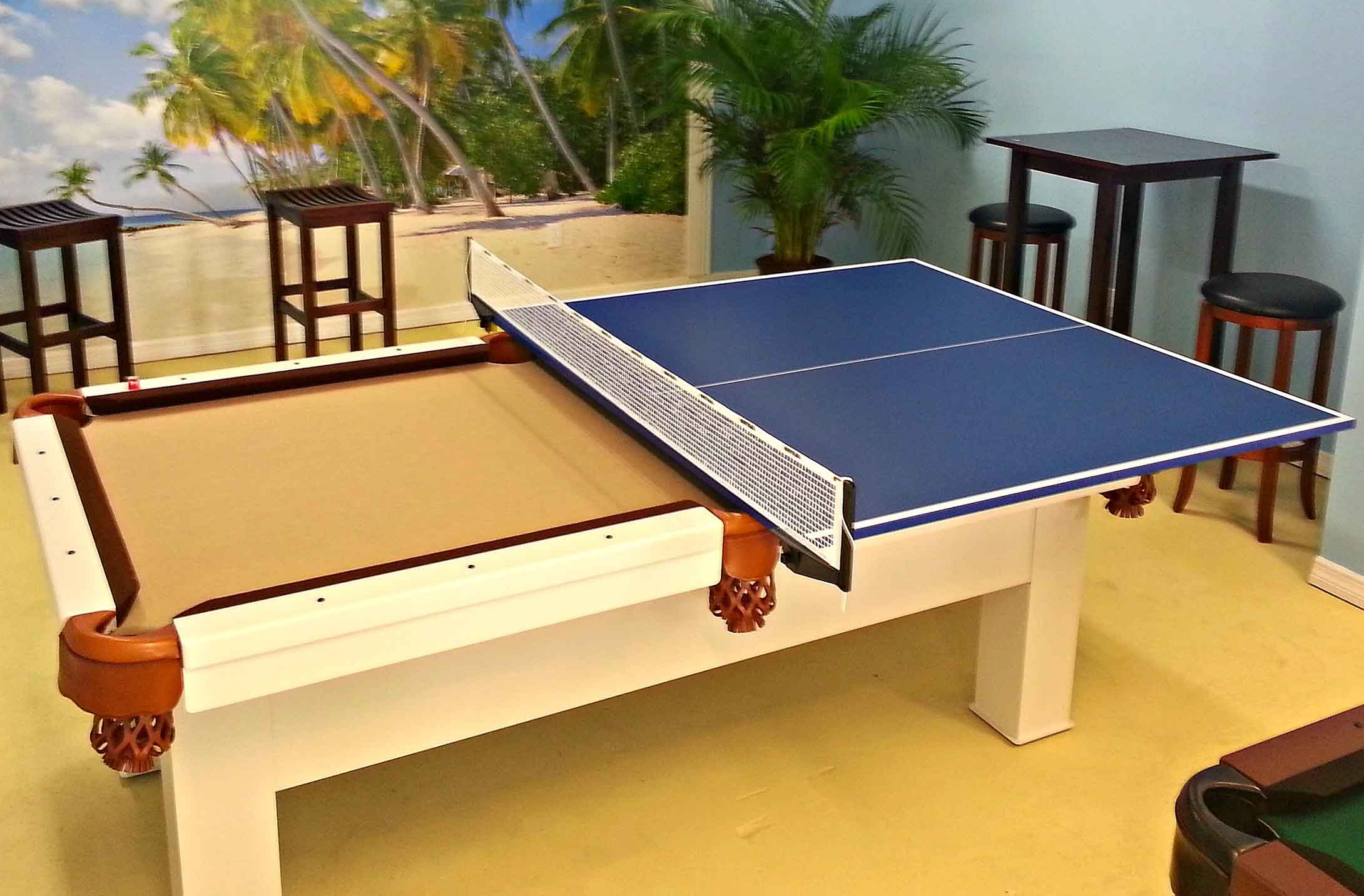 Table Tennis Conversion Top RR Outdoors Inc All Weather - Billiards ping pong table