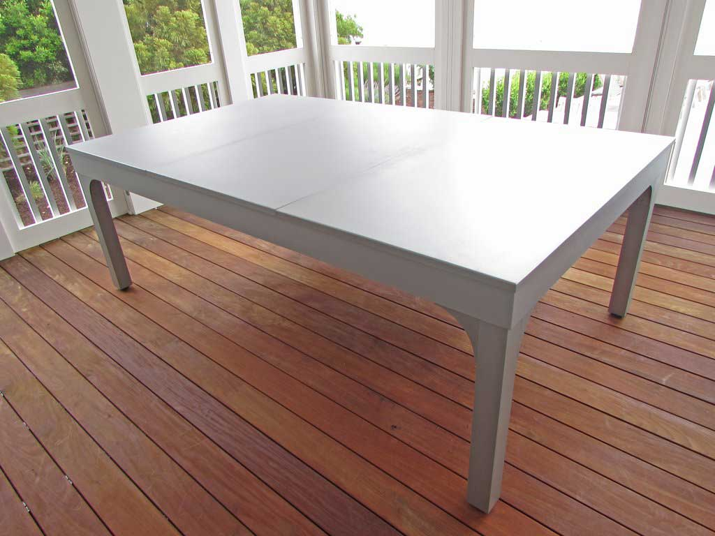 The Balcony Outdoor Pool Table with Dining Conversion Top from R&R Outdoors All Weather Pool Tables