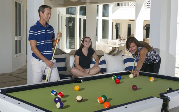 Unplug with Our Outdoor Pool Tables